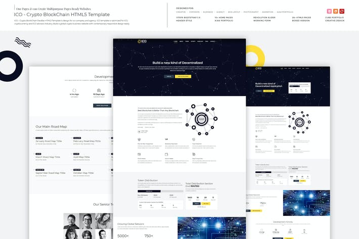 Thumbnail for ICO - Crypto BlockChain HTML5 Template