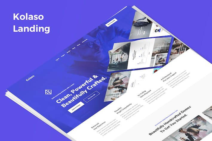 Thumbnail for Kolaso Demo Landing PSD Template