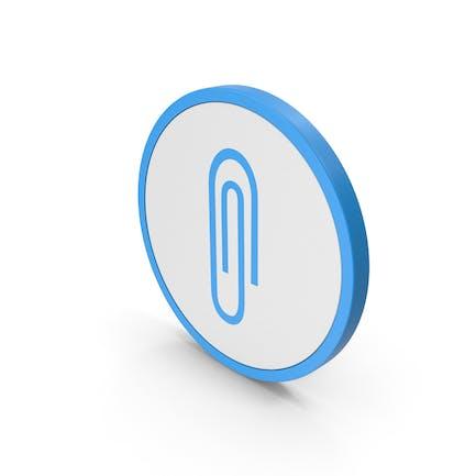 Icon Paper Clip Blue