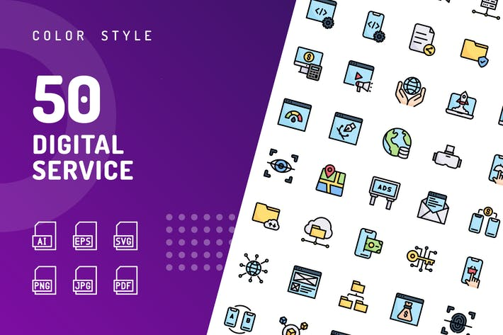 Thumbnail for Digital Service Color Icons