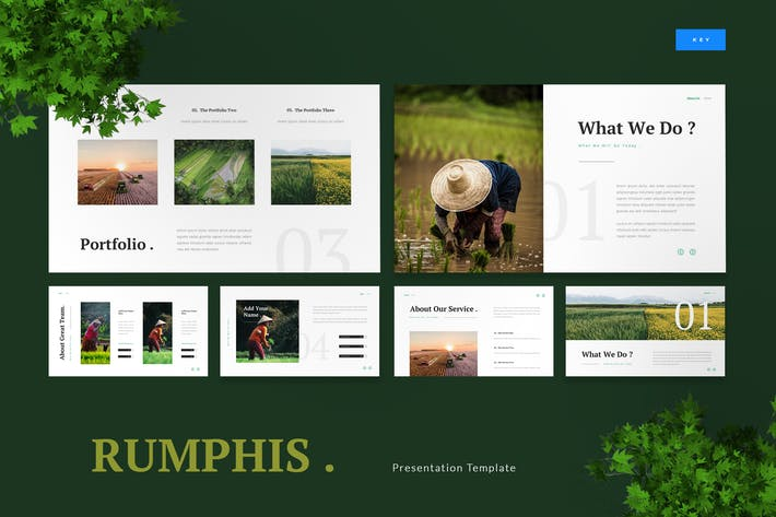 Thumbnail for Rumphis - Farming Agriculture Keynote Template