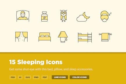 15 Sleeping Icons