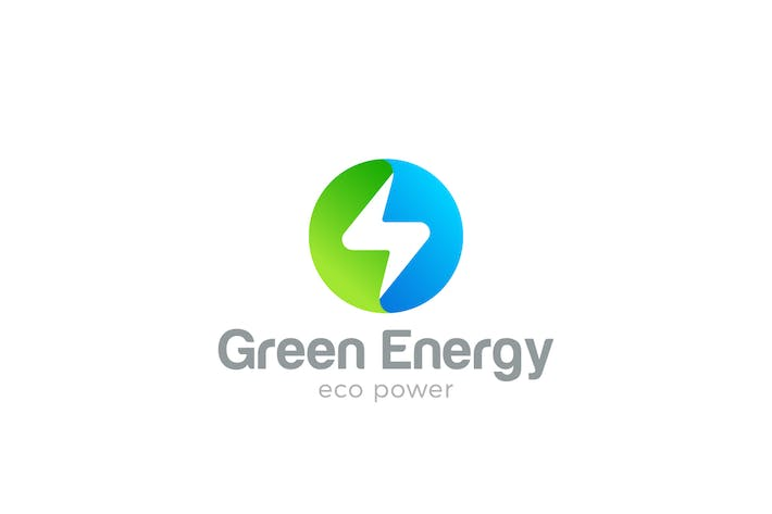 Thumbnail for Logo Flash Circle shape Green Energy Power