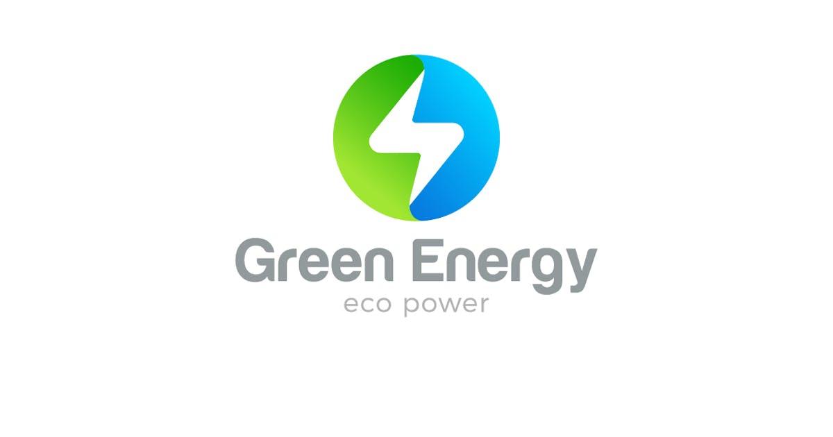 Download Logo Flash Circle shape Green Energy Power by Sentavio