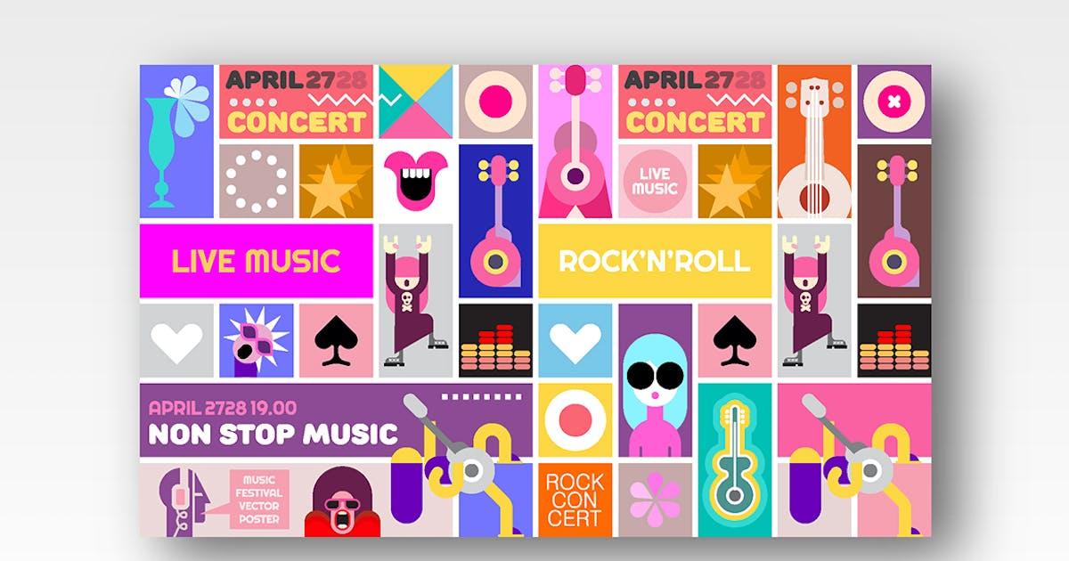 Download Rock Concert poster template design by danjazzia
