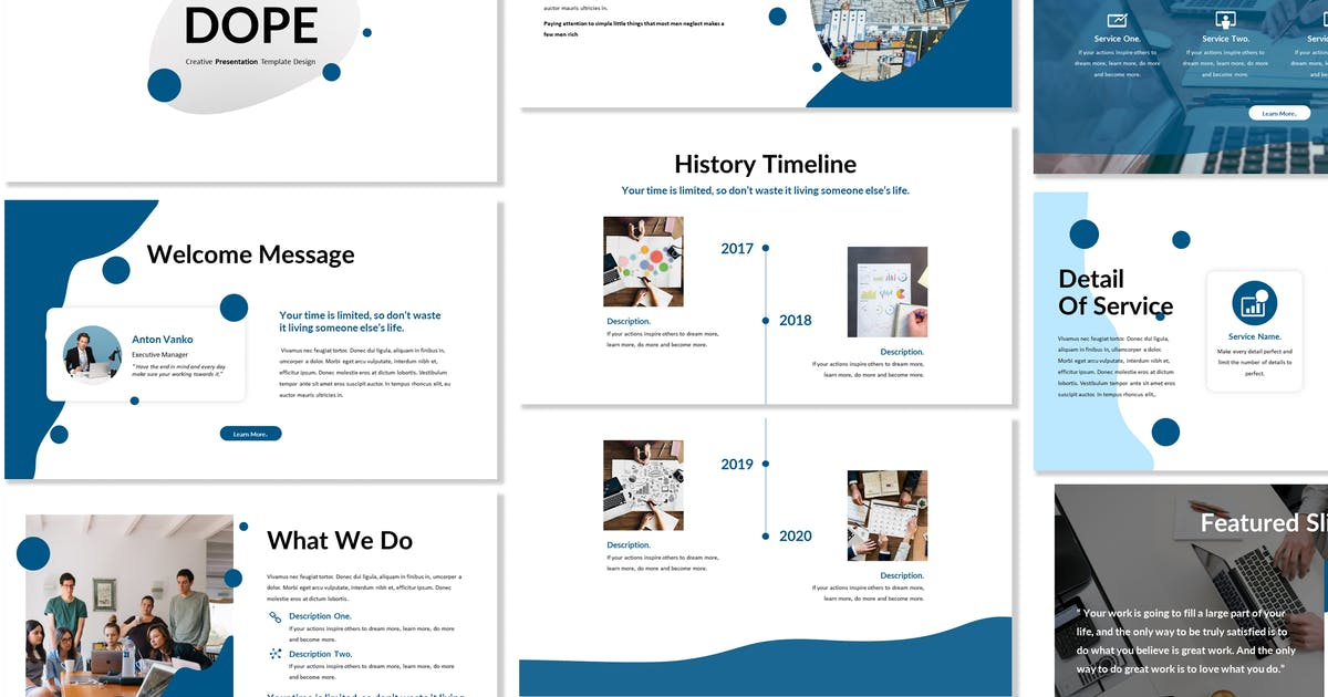 Download Dope - Business Powerpoint Template by Blesstudio