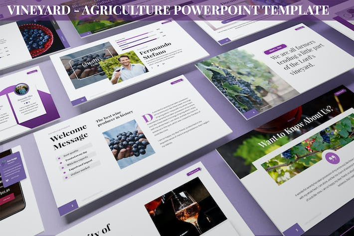 Thumbnail for Vineyard - Agriculture Powerpoint Template