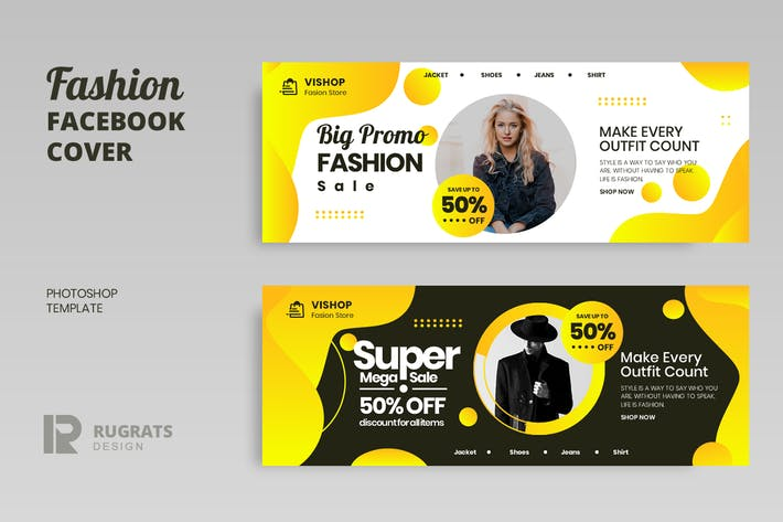 Thumbnail for Fashion r3 Facebook Cover Template