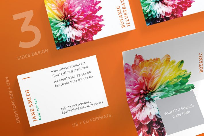 Thumbnail for Illustration Lessons Business Card Template