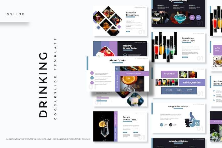 Thumbnail for Dringking - Google Slides Template