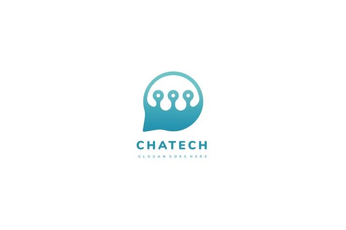 Thumbnail for Tech Chat Bubble Logo