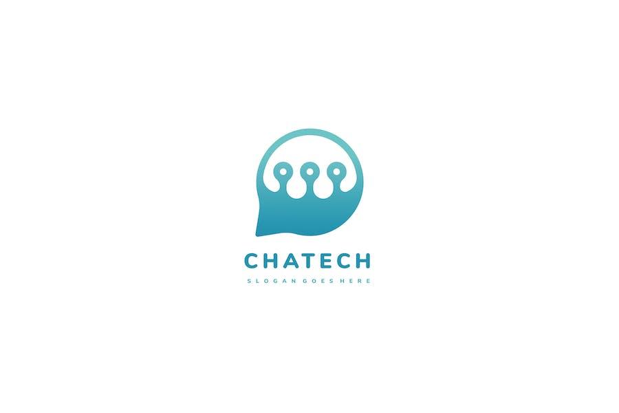 Tech Chat Bubble Logo