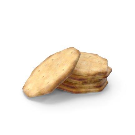 Pequeño montón de galletas octágonas