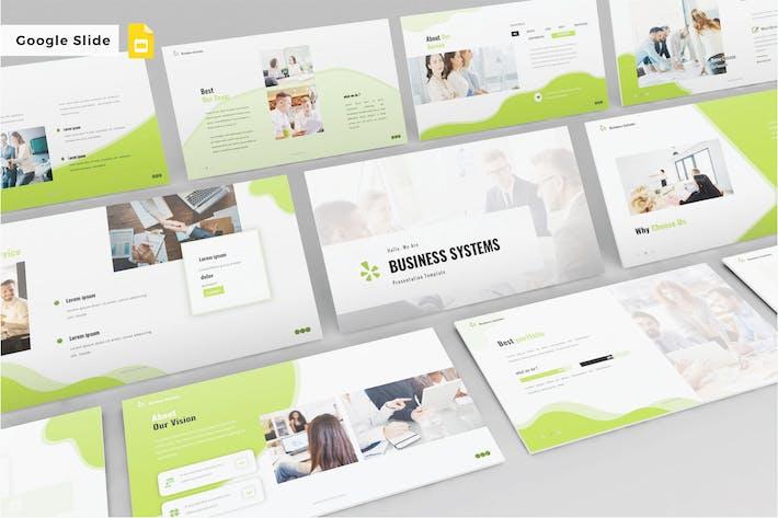 Thumbnail for BUSINESS SYSTEMS - Google Slide V507
