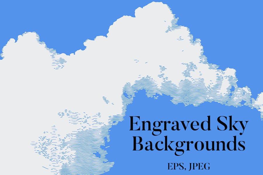 Engraved Sky Backgrounds