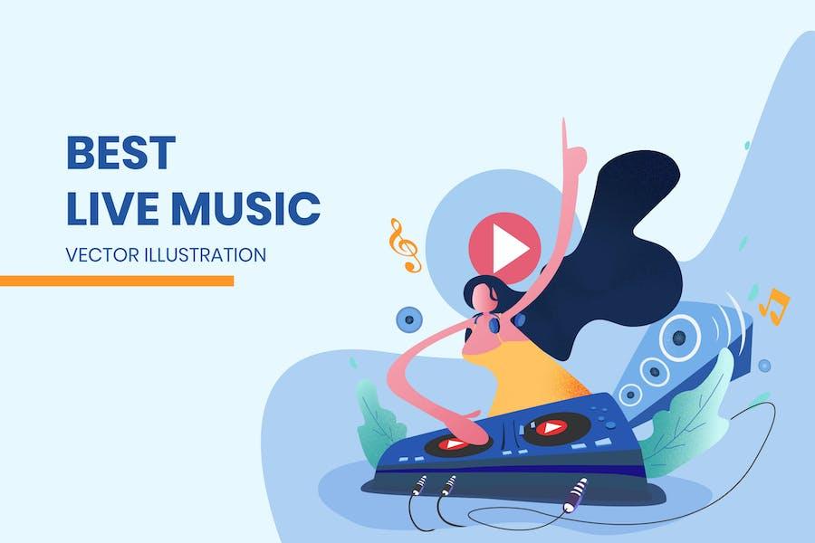 Live Music - Vector Illustration