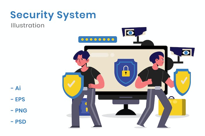 Thumbnail for Security System Illustration