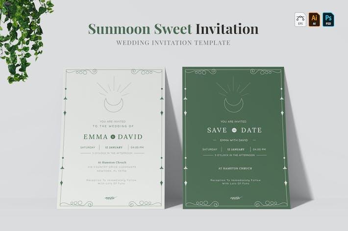 Thumbnail for Sunmoon Sweet | Wedding Invitation