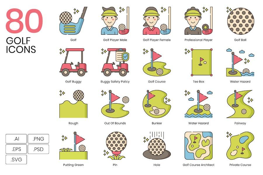 80 Icons der Golflinie