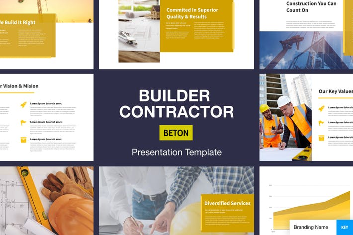 Cover Image For Beton - Builder Contractor Presentation Template