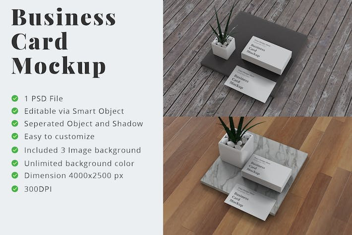 Cover Image For Business Card Mockup Right Angle View