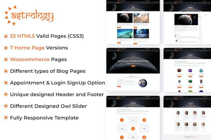 Thumbnail for Modèle de site d'astrologie