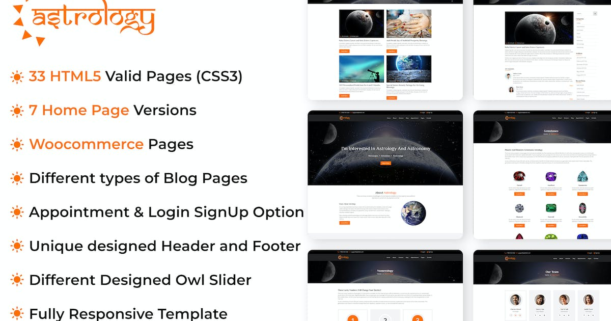 Download Astrology Site Template by kamleshyadav