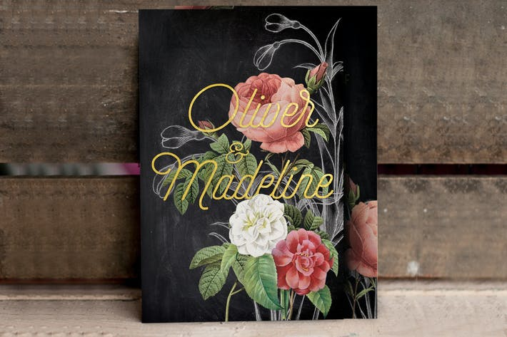 Thumbnail for Hand Drawn Floral Wedding Invitation
