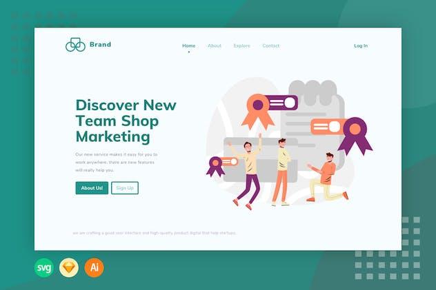 E-commerce Award - Website Header - Illustration