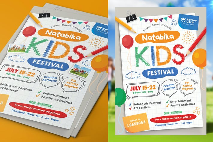Thumbnail for Kids Festival Flyer