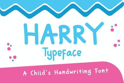 Harry Typeface - Fuente de escritura a mano de un niño