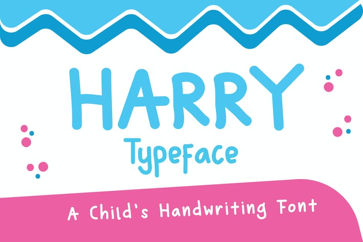 Thumbnail for Harry Typeface - A Child's Handwriting Font