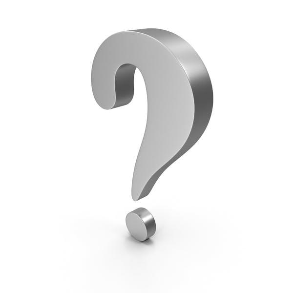 Question Mark Steel or Plastic Grey