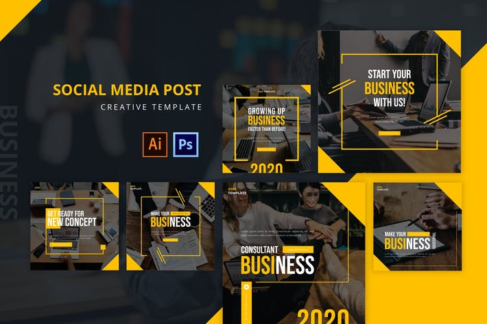 Thumbnail for Business Social Media Post Template