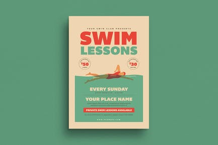 Schwimmunterricht Flyer