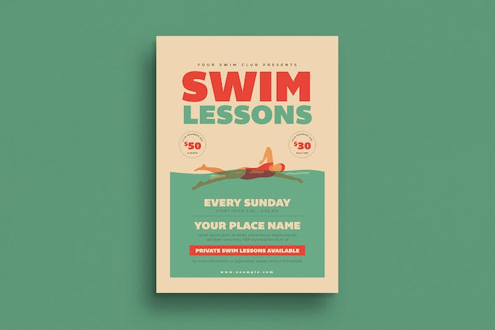Thumbnail for Swim Lessons Flyer
