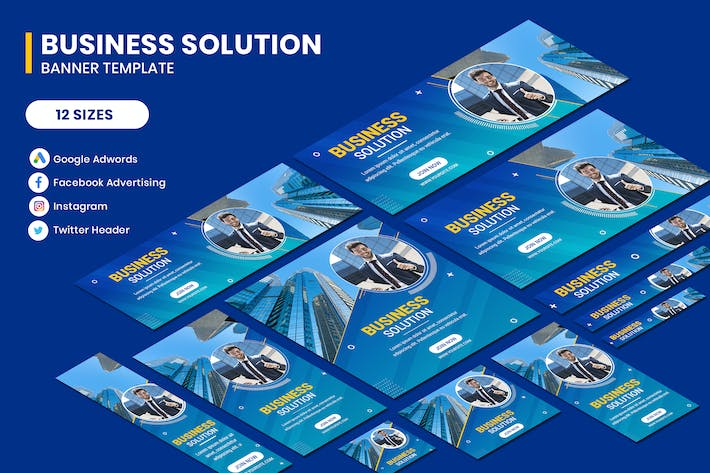 Business Solution Google Adwords Banner Template