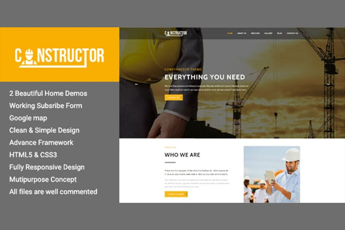 Thumbnail for Constructor - Premium Construction HTML Theme