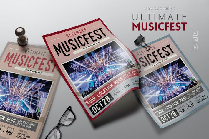 Thumbnail for Ultimate MusicFest Flyers
