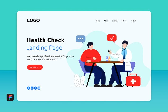 Thumbnail for Hech - Health Check Landing Page 2