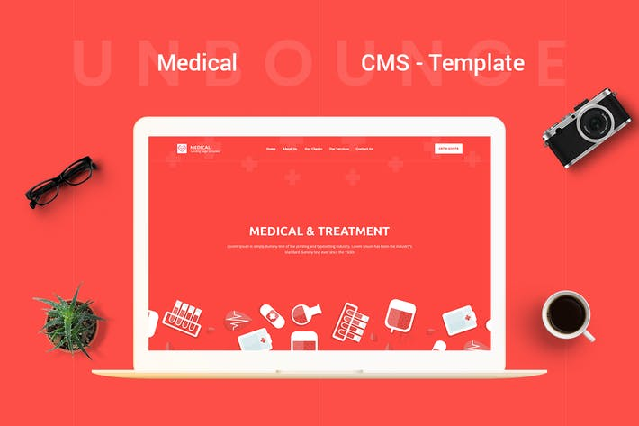 Cover Image For Medical - CMS Unbounce Modèle