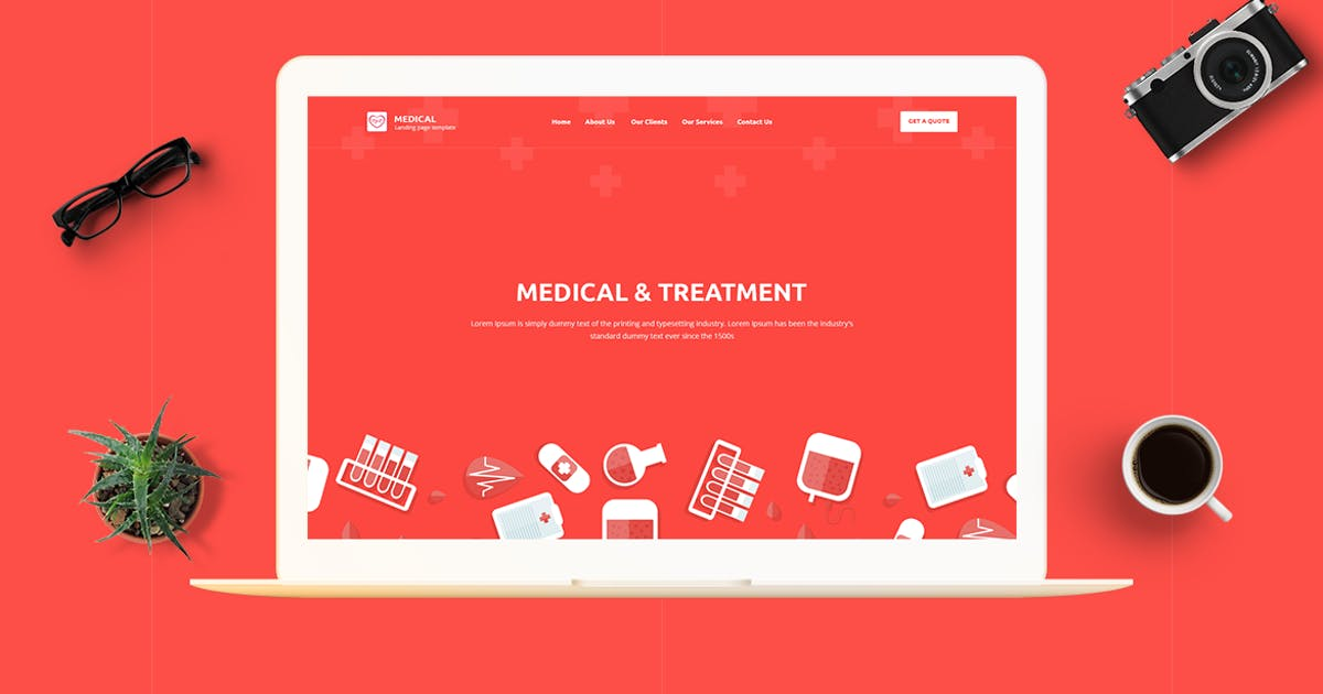 Download Medical - CMS Unbounce Template by ExplicitConcepts