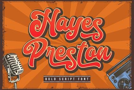 Hayes Preston - Bold Font