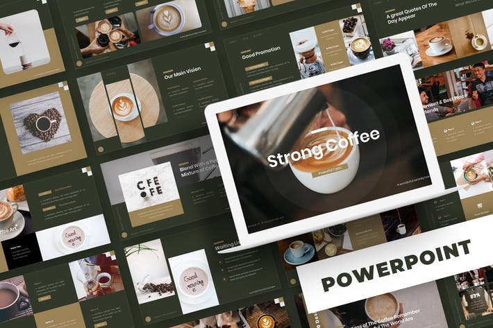 Strong Coffee - Powerpoint Template