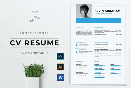 Professional CV Resume Template Vol. 02