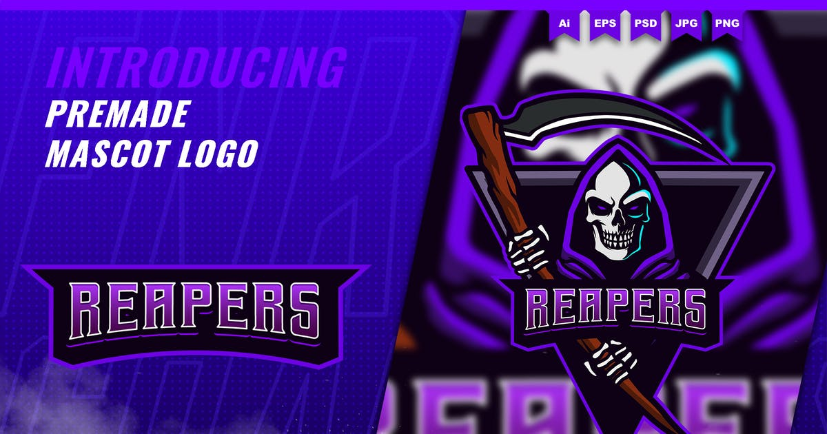 Download Reaper - Mascot Esport Logo Template by FNRGraphics
