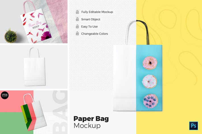 Thumbnail for Paper Bag Mockups