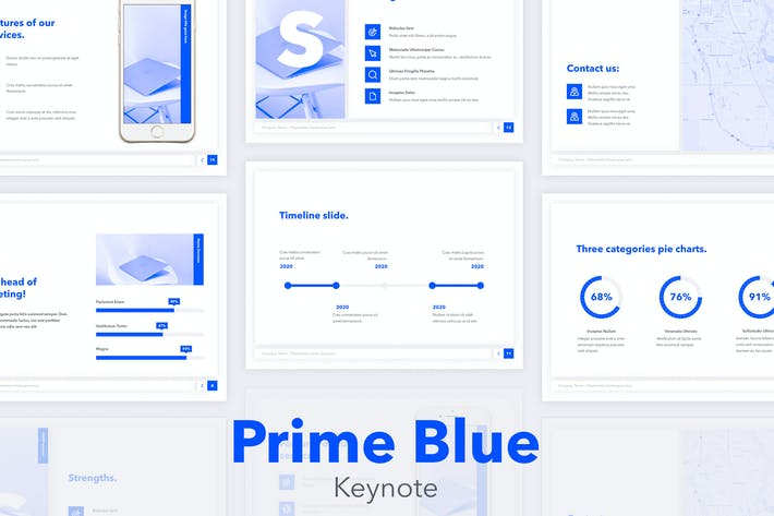 Thumbnail for Prime Blue Keynote Template
