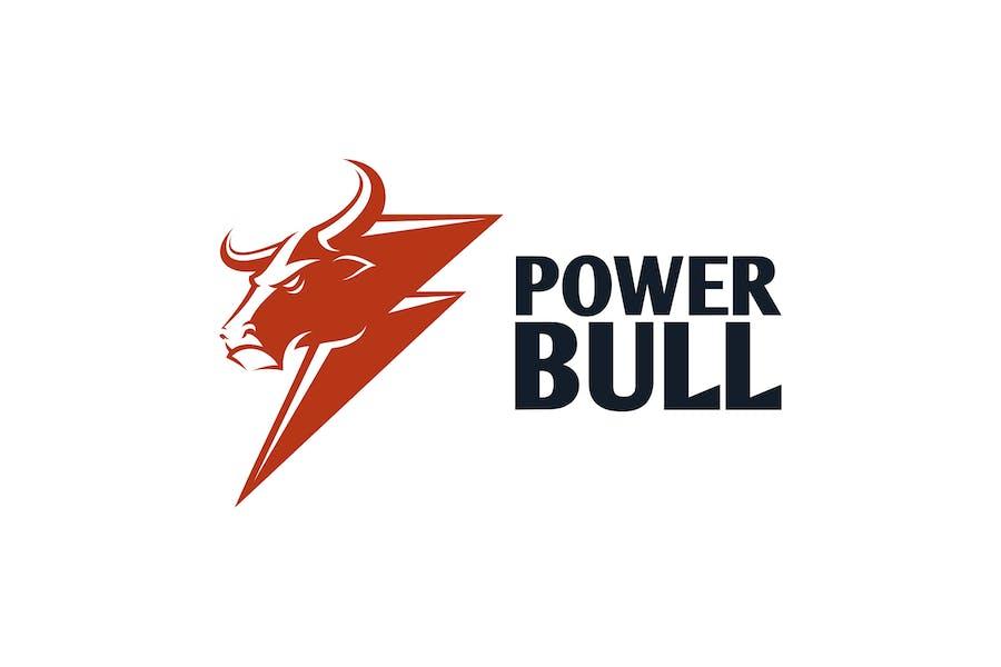Power Bull - Bull & Thunder Logo