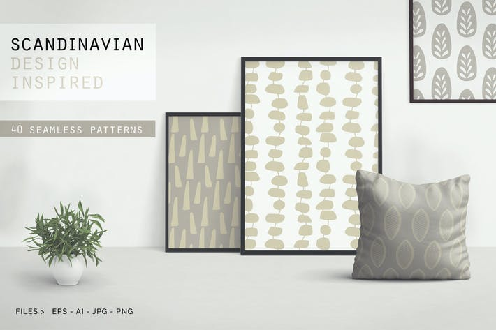 Thumbnail for Scandinavian Patterns set of 40